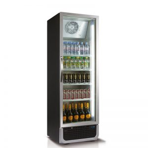 Husky Single Door Glass Door Commercial Refrigerator