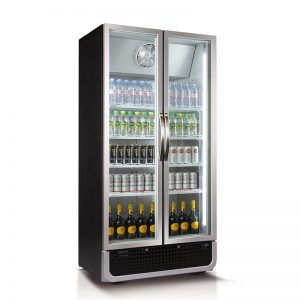 728L Vertical Glass Door Fridge (Black) | C8PRO-H-BLK-AU-HU