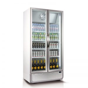 Husky Double Door Glass Door Commercial Refrigerator