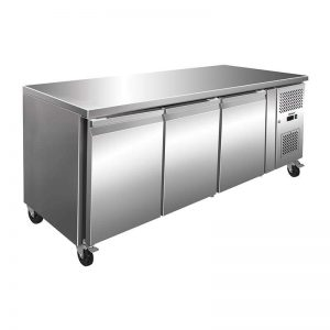Husky Triple Door Prep Counter Commercial Refrigeration