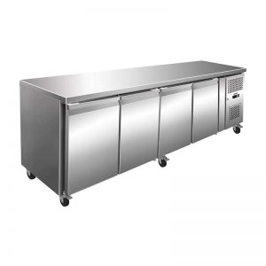 Commercial Refrigeration - 476l four door prep-counter refrigerator