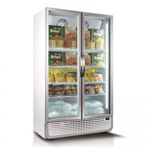 Husky Vertical Double Glass Door Commercial Freezer