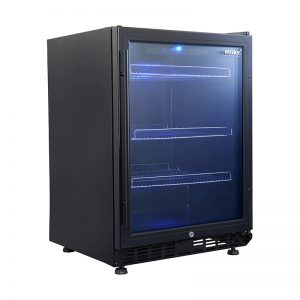 Vino Pro Single Door Drinks Chiller in Black Trim