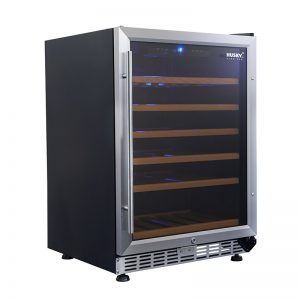 Vino Pro Single Zone Undercounter Wine Fridge in Stainless Steel Trim