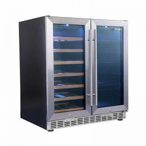 Husky Fridge - Double Door Wine Fridge & Drinks Chiller in Stainless Steel